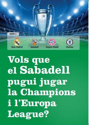 el Sabadell a la Champions