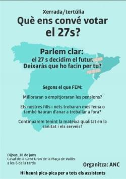 Acte gent gran 18 de juny, plaça del Vallès