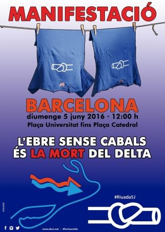 cartell 5 de juny a Barcelona, Ebre