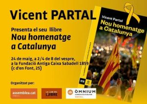 Sabadell. 24 de maig, Vicent Partal ens presenta el seu llibre