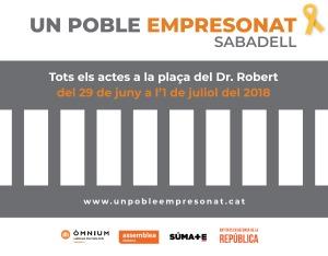 """29 i 30 de juny i 1 de juliol, """"Un poble empresonat"""" a Sabadell - Programa d'actes"""