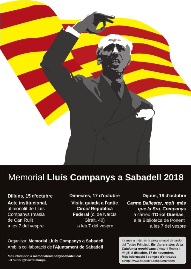 15, 17 i 18 d'octubre, a Sabadell, Memorial Lluís Companys