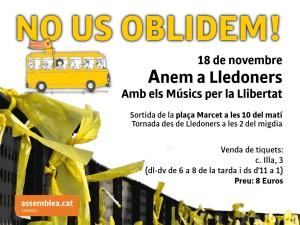 18 de novembre, autocar des de Sabadell a Lledoners